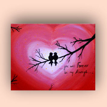 Valentine's Day Card, Anniversary Card, Love birds, Lovers gift, Love sign, Love card, I Love you, Wedding card