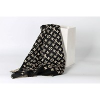 LOUIS VUITTON men and women fashion accessories comfortable cashmere scarf silk shawl size:140*40