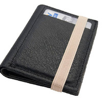 BLACK, Leather handmade men's wallets, Small leather wallet, portemonnaie