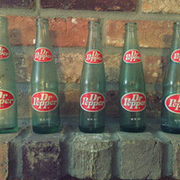 1970's Collectible Vintage Glass Dr. Pepper Bottles 10 fl. oz.
