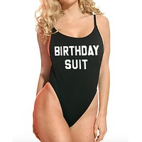 Birthday Suit One Piece Swim suit