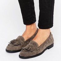 New Look Suedette Fringe Loafer