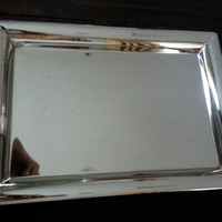 Vintage Godinger Silver Art Co. Ltd silverplate large tray, modern silver tray, China silver, wedding gift, antique serving