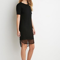 Mesh-Hem T-Shirt Dress