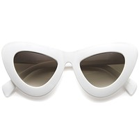 Women's Retro Bold Chunky Cat Eye Sunglasses A098