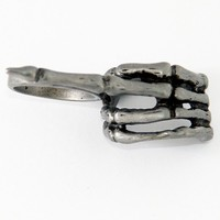"""Unisex """"Middle Finger"""" Ring by Rocklove Jewelery"""