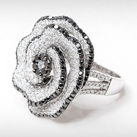 AMAZING ROSE LOOK 6.25CT ROUND STUD 925  STERLING SILVER ENGAGEMENT RING FOR HER