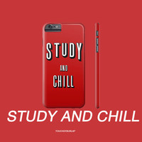 Netflix and Chill Remake Study IPhone 4 5 6 6s Plus / Galaxy Case Perfect College School Student Roomate  Boyfriend / Girlfriend / Bae Gift