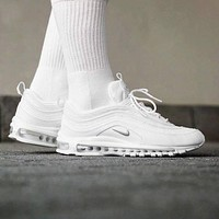 NIKE AIR MAX 97 White Women Running Sneakers Sport Shoes