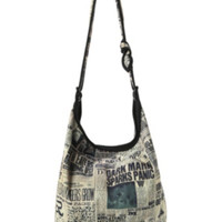 Harry Potter Daily Prophet Headlines Hobo Bag