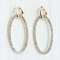 Gold Crystal Eclipse Earrings