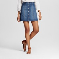 Women's Button Front Skirt - Mossimo Supply Co.™ (Juniors')