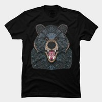Ornate Black Bear T Shirt By Myartlovepassion Design By Humans