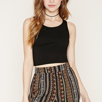 Tribal-Inspired Print Shorts