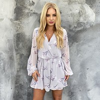 Belle Floral Long Sleeve Romper