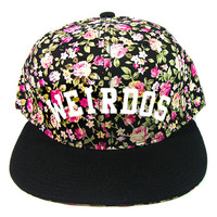 Weirdos Brush Snapback Hat in Floral
