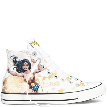 Converse Chuck Taylor DC Comics Wonder Woman White Multi Hi Top