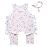 Ropa mujer girls clothing sets Newborn 2pcs Toddler Baby Girl Boy Print Romper Jumpsuit Clothes Outfit Sunsuit Set