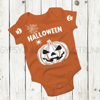 Pumpkin Baby Outfit - Halloween Baby Clothes