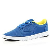 River Island MensBlue lace up sneakers