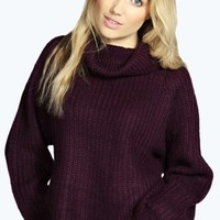 Rosie Roll Neck Soft Knit Jumper