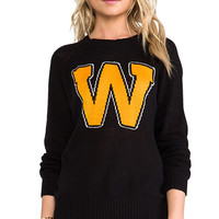 Wildfox Couture Roller Disco Pullover in Black