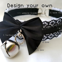 The Lilith Collar [Design Your Own] Thin Lace Pleated Lace Kitten/Pet Play DDLG Collar
