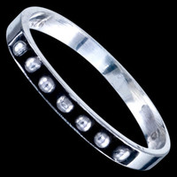 Silver ring, beads