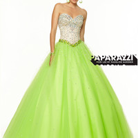 Sweetheart Beaded Tulle Ball Gown Paparazzi Prom Dress By Mori Lee 97048