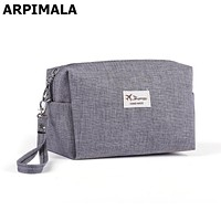 2017 Korean Style Toiletry Bags Canvas Travel Cosmetic Bag Small Organizer Women Makeup Bag Neceser Make up Case Beauty Storage