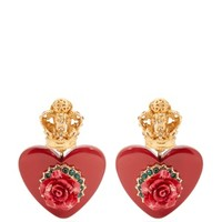 Crown and heart-embellished clip-on earrings   Dolce & Gabbana   MATCHESFASHION.COM UK