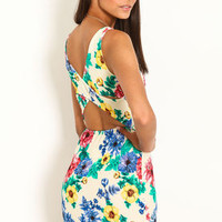 Floral Print Bodycon Dress - LoveCulture
