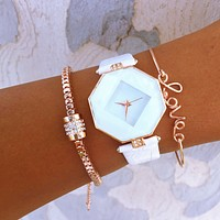 Love Cylinder Bracelet & Watch Stack