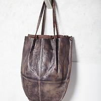 Womens Crescent Leather Tote