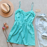 Pin & Hem Dress in Turquoise