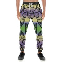 Butterfly Design 1 Men's All Over Print Casual Jogger Pants