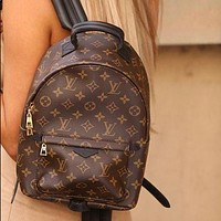 LV Louis Vuitton Women Fashion Daypack School Bag Leather Backpack-6