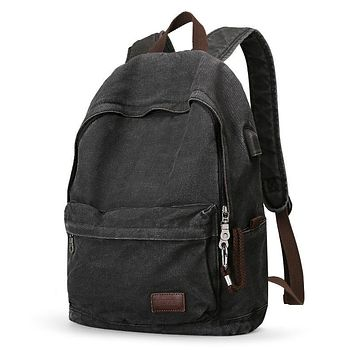 Men's And Women's Retro Canvas Backpack