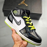 Nike x AirJordan1 High Black Symphony Shoes Fashion Men's and Women's High Top Casual Sports Shoes