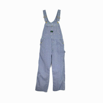 Vintage Striped Denim Overalls / Ely Big Buck Overalls / Work Overalls - Small