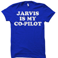 """MARVEL Avengers Age of Ultron - Iron Man """"Jarvis Is My Co-Pilot"""" Tee Shirt"""