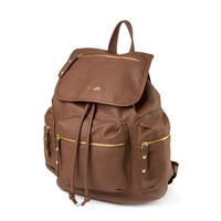 Buckeye Faux Leather Backpack with Crystal Arrowhead Detailing