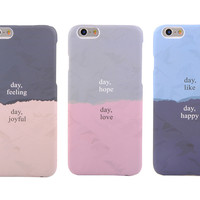 Cover For iPhone 6 /6 plus Cases Phone Shell Simple Hard Back Covers