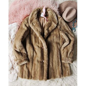 Vintage Lux Cozy Faux Fur Coat