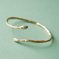 Golden protective hand bangle