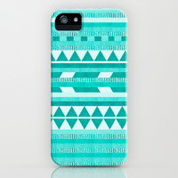 Mint Aztec iPhone & iPod Case by Good Sense