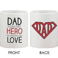 Coffee Mug for Father - DAD a Son's First Hero and a Daughter's First Love