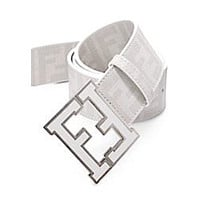 Fendi Belt Men's Fendi Zucca white Belt