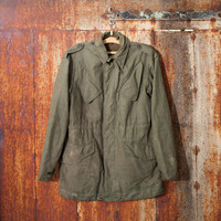 Green canvas jacket vintage man's German army anorak field jacket military coat olive military  jacket camo army jacket Halloween costume