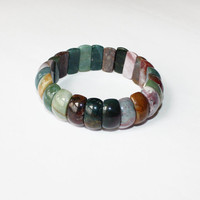 Natural Healing Stones Aventurine Quartz Tiger Eye Amethyst Assorted Stone Bracelets